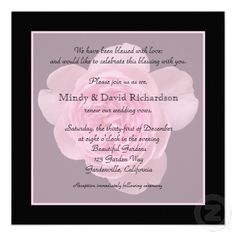 Vow Renewal Invitation -- Pink Rose Vow Renewal