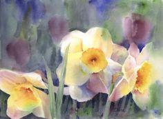 watercolor art, galleries, floral paint, florals, barbara