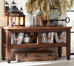 Taylor Console Table | Pottery Barn--possible TV stand?