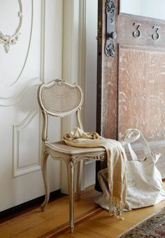 Elegant gold vintage chair.