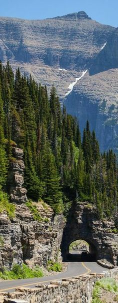 On the Going-to-the-Sun Road in Glacier National Park, Montana