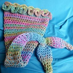 Crochet Baby mermaid Cocoon Patterns Free   Mermaid Tail by SewMuchLove   Crocheting Pattern