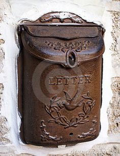antique mail box - detail like this is what makes life interesting