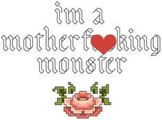 Monster - Cross Stitch Pattern Instant Download Mature on Etsy, $4.48 CAD
