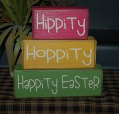 Hippity Hoppity HAPPITY EASTER Flower Holiday