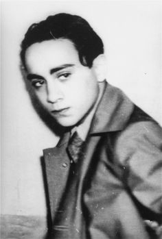 Portrait of Herschel Grynszpan taken after his arrest by French authorities for the assassination of German diplomat Ernst vom Rath. November 7, 1938.