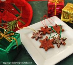 Fragrant Cinnamon Dough Makes Christmas Ornaments, Gift Tags or Christmas Potpourri