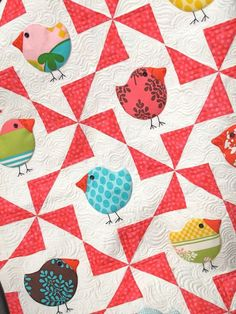 birdie quilt. Ah wouldn't this make a cute quilt for a wee one. love the birdies.