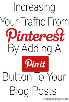 Manually adding pin it buttons to your blog posts can help increase the amount of pins to your site and increase your blog traffic #blogging #tutorials