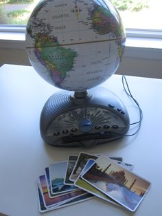 You will need a globe or map, and some fun geography flash cards for this fun geography game