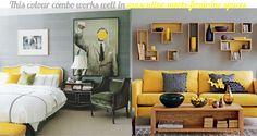 next bedroom: yellow & grey