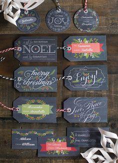 9. Chalkboard Christmas Gift Tags