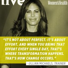 Jillian putting it into perspective.  #fitness #inspiration #fitspiration #exercise #JillianMichaels