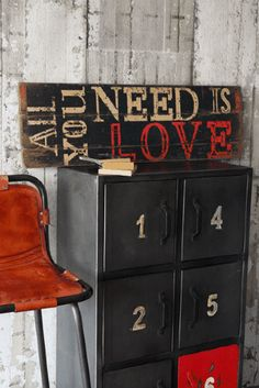 All You Need Is Love - Wooden Sign