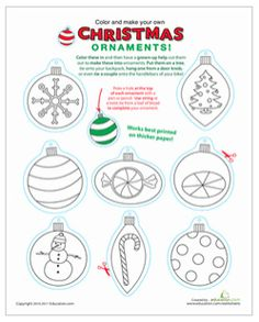 christmas ornament printables by CrystalECollins, via Flickr