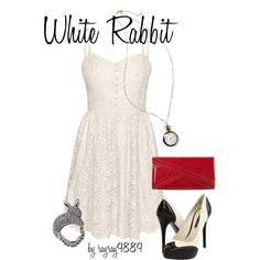 White Rabbit, created by raven-ferrel on Polyvore