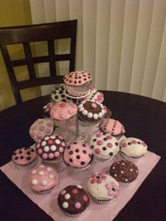 awwww babi, baby shower cupcakes, blue green, decor cakescupcak, birthday cupcakes, pink cupcakes, blues, babi shower, baby showers
