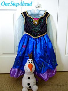 SavingSaidSimply.com - One Step Ahead for Halloween - Princess Anna Costume Review