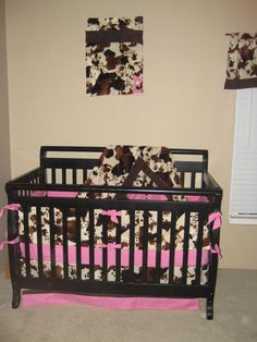 Cowgirl Crib Bedding- I made this for my daughter before she was born.  She and my son share a cowboy/girl themed room.