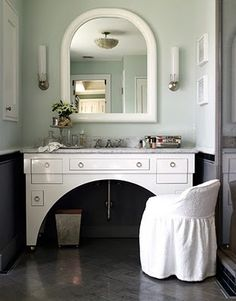 It's ALL about that vanity table thing. Lovely. #bathroom