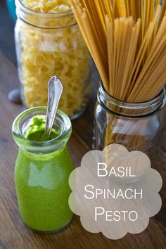 Basil Spinach Pesto from www.whatsgabycooking.com