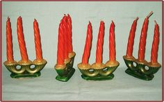 Vintage Christmas Candle ~ Gurley Candelabra Candles ~ Very Rare.