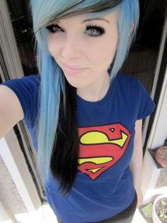 white hair, african hair, emo girls, colorful hair, blue hair, scene hair, black, blues, scene girls
