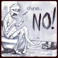 Halloween bathroom humor. Oh NO!