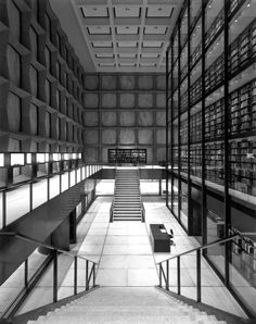 interior of the Beinecke rare book and manuscript library, New Haven, Connecticut by Gordon Bunshaft (1963)*
