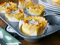 Lasagna Cups! Looks so much easier than actual lasagna!