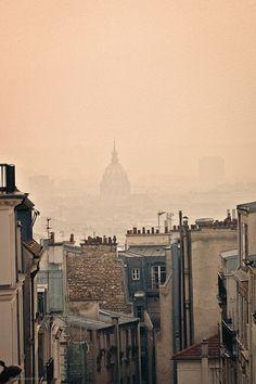 fog, in Paris.