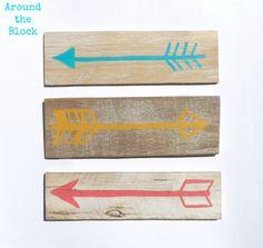 Reclaimed Wood Arrow SetWedding ArrowsWall by AroundtheBlockAZ