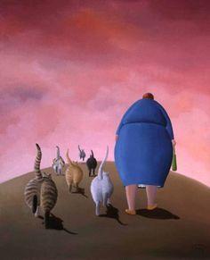 Promenade du soir   (Nicole Avezard)