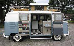Classic VW Camper vans. The Westfalia, 1965