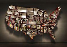 United States bookshelf, designed by Ron Arad
