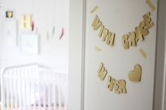 Adorable door banner - perfect for the nursery!