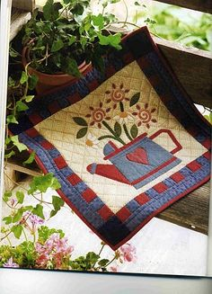 watering can small quilt