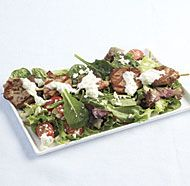 Pork Souvlaki Salad with Black Pepper Tzatziki