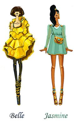 Disney characters in high fashion
