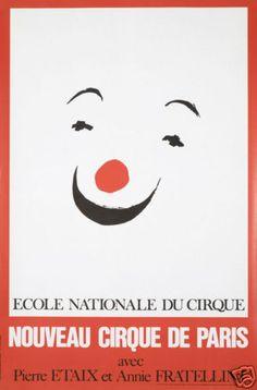 Original Vintage Poster Circus Cirque de Paris Clown | eBay