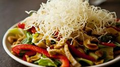 Asian-Style Cashew Chicken Salad with Sesame Soy Vinaigrette Recipe