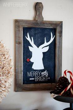 Rudolph chalkboard sign