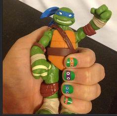tmnt nail, art studios, turtl nail, nail arts, jamberri nail, nails, ninjas, ninja turtles, bday parti