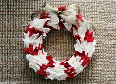 Candy Cane Wreath w/tutorial