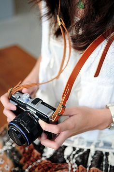via Scout + Catalogue - an etsy buy - leather camera strap
