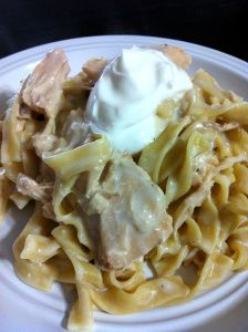 Chicken Stroganoff in the Crock Pot - The Coers Family