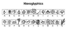 Make your own hieroglyphs with rubber stamps