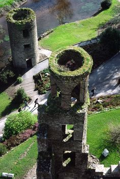 Two Towers at Blarney Castle, Cork, Ireland.