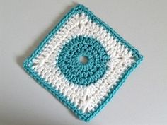 Free Granny Square Pattern: Circle in the Square