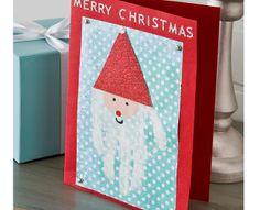 Craft Painting - Santa Handprint Card